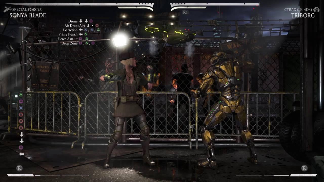 Mortal Kombat Xl Sonya Special Forces 40 Combo