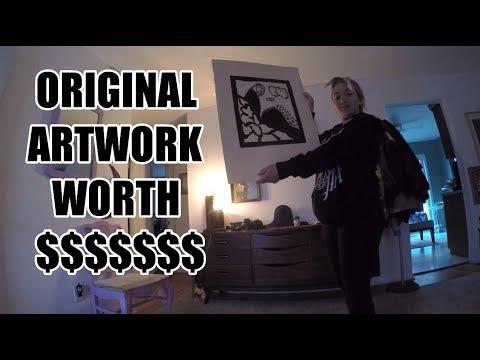 WE FOUND AN ORIGINAL ARTWORK WORTH $1,000'S!!!!