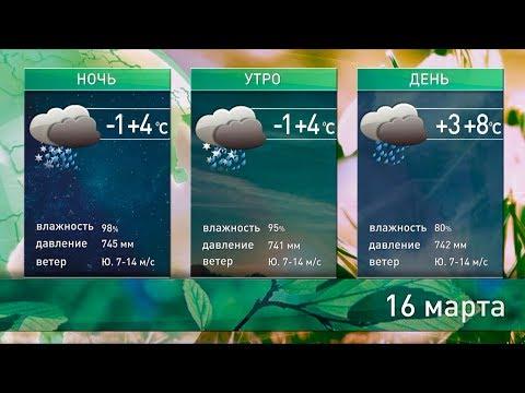 Прогноз погоды на 16-17 марта