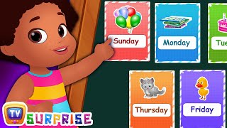 Days Of The Week - ChuChu TV Surprise Eggs Learning Videos For Kids