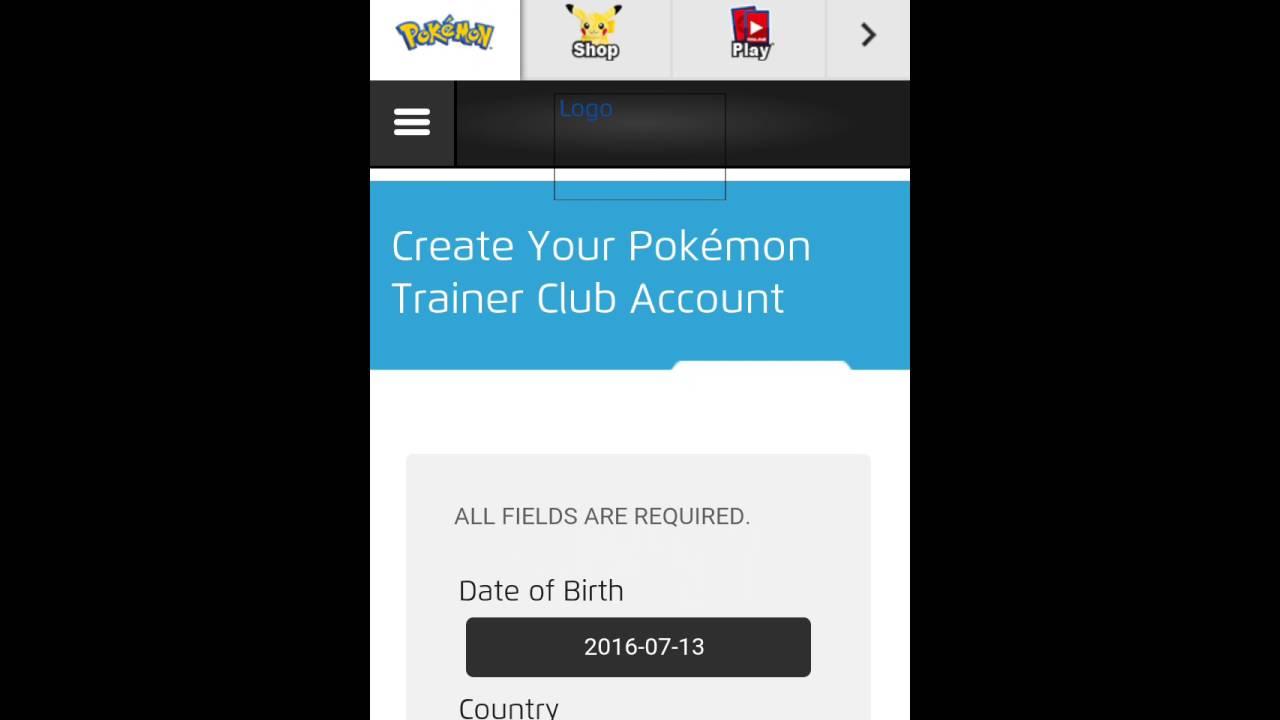Create Pokemon Go Trainer Club Account Working Youtube