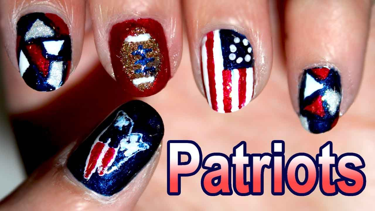 New England Patriots Nail Art 🏈 {2015} - YouTube