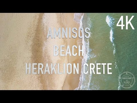 Amnisos Beach - by AirFootage.gr [4K]
