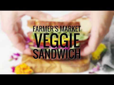 ULTIMATE FARMER'S MARKET VEGGIE SANDWICH (Gluten free, Dairy free)