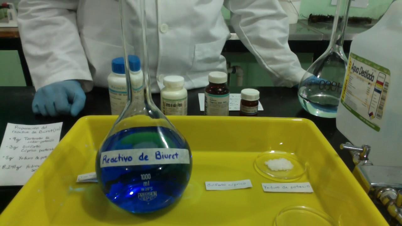Reactivo de biuret para protein as para bajar de peso
