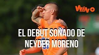 Neyder Moreno y un debut soñado recordó su primer gol como profesional en el FPC