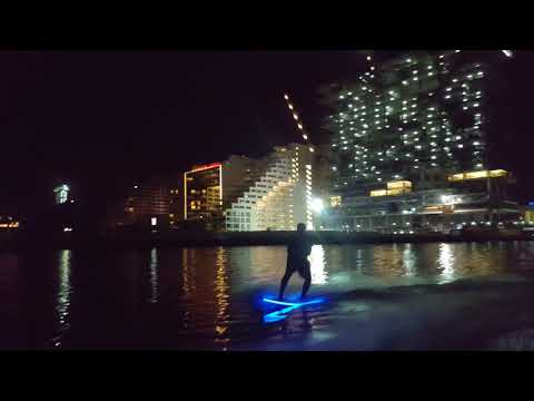 The first surf board with LED Lights , patented invention registered under the name of Saleh Al Chaf להורדה