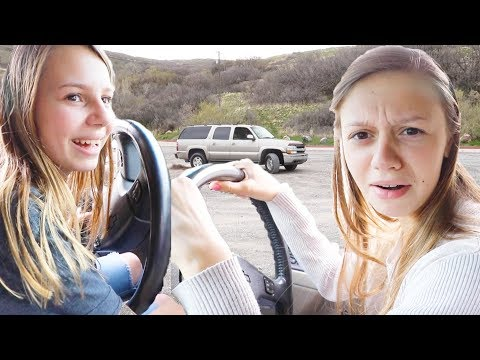 Sister VS Sister Teen DRIVING CHALLENGE!!