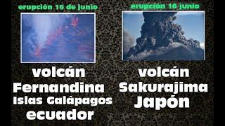 !! ERUPCIÓN DE DOS VOLCANES -REPORTE SISMICO 16 DE JUNIO▶English subtitles