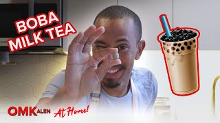 'OMKalen': Kalen Reacts to His Own Boba Milk Tea