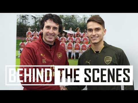 Denis Suarezs first day at Arsenal | Exclusive behind the scenes video