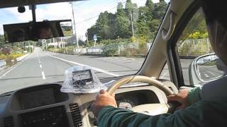 2012年10月27日福島第一原発正門へ向かう。.avi 被爆再現人形 検索動画 16