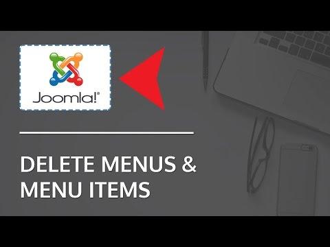 How To Delete Menu And Menu Items In Joomla 3