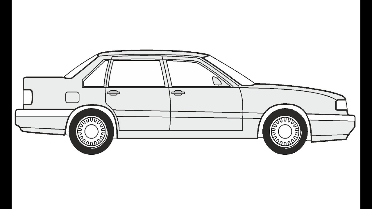 How to Draw a Volvo 850 Limousine / Как нарисовать Volvo