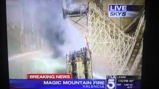 Magic Mountain Fire Colossus Collapse