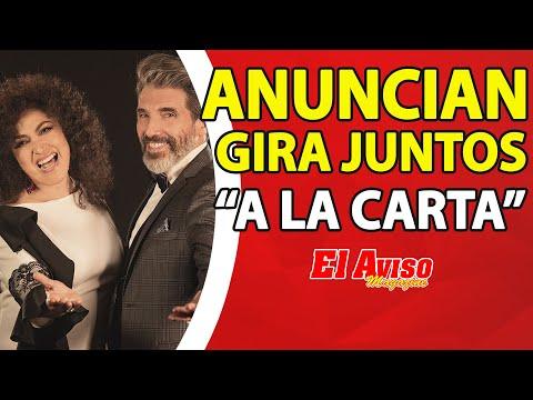 Amanda Miguel y Diego Verdaguer en conferencia de prensa