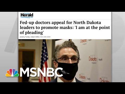 Nation's Headlines Show Widespread Surge In Coronavirus Cases | Rachel Maddow | MSNBC