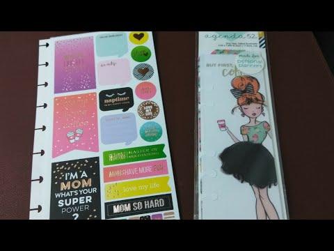 The Happy Planner Stickers & Agenda 52 Bookmark | Flipthrough