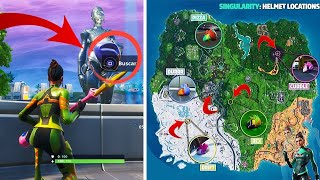 LOCATION OF ALL THE HOUSES OF THE SKIN HIDDEN FORTNITE SEASON 9