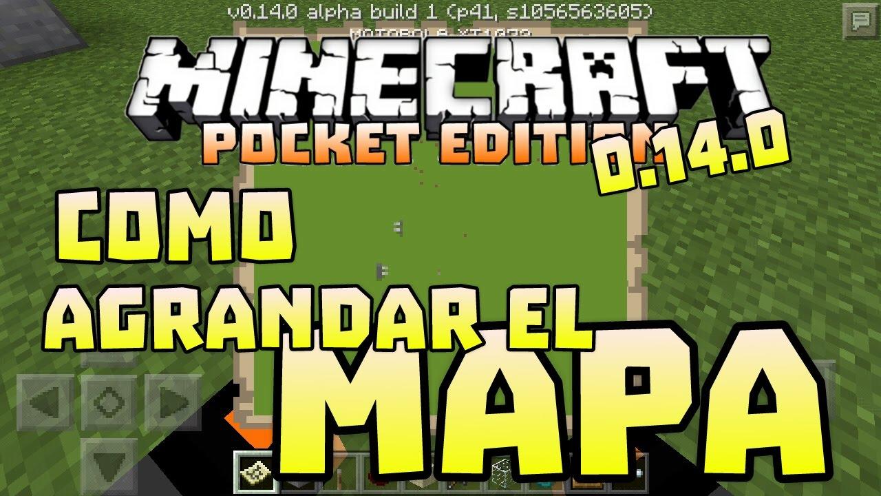 Minecraft Pe 0 14 0 Como Agrandar El Mapa Youtube