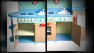 Gidecraft-all-in-one-play-kitchen-g97249 - Wooden Toy Kids Kitchen