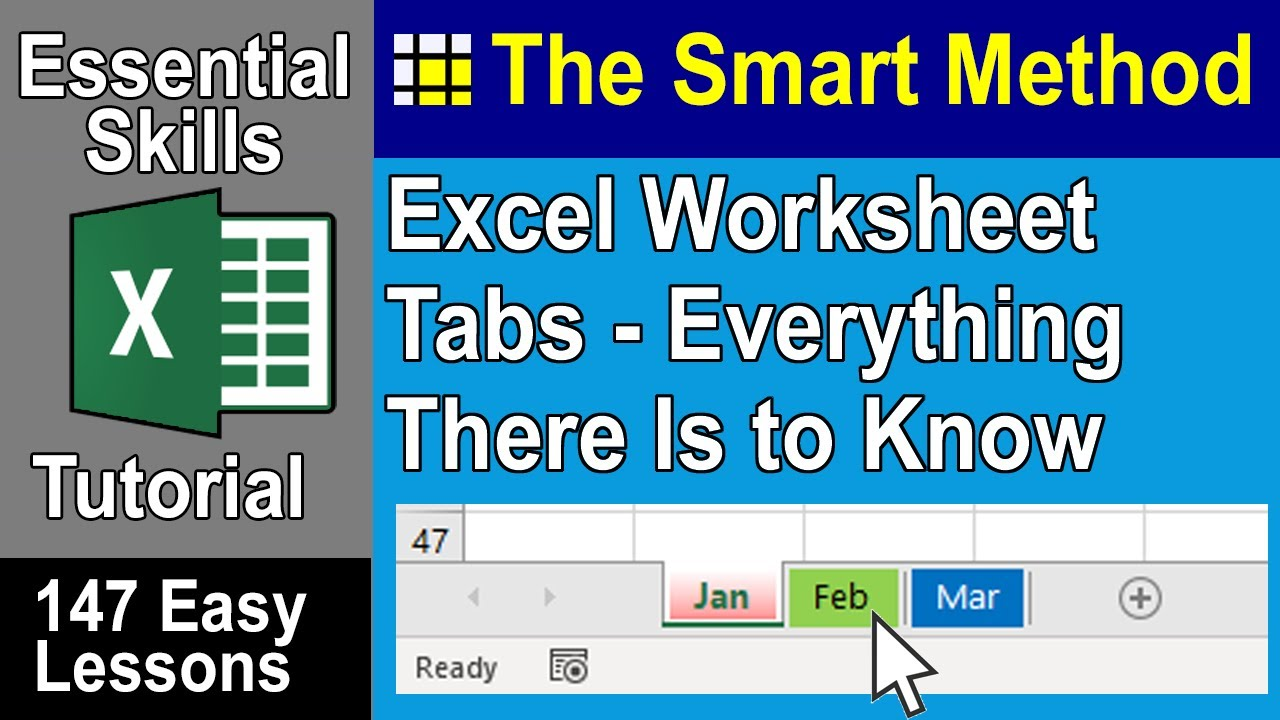 Coloring sheet tabs in excel - Excel Tutorial View Move Add Rename Delete Excel Worksheet Tabs Excelcentral Com Youtube