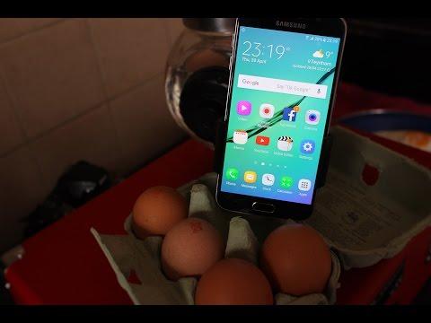 SMART PHONE COOKS EGG/Samsung galaxy S6 Cooks Egg