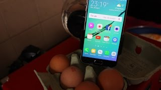 Repeat youtube video SMART PHONE COOKS EGG/Samsung galaxy S6 Cooks Egg