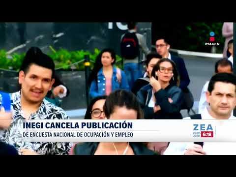 INEGI cancela publicación de Encuesta Nacional de Ocupación y Empleo | Noticias con Francisco Zea