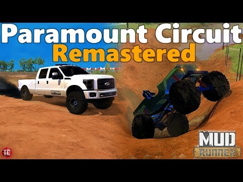 SpinTires MudRunner: NEW MAP! Paramount Circuit Remastered