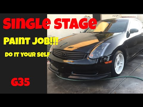 g35  gets painted with single stage paint ….how to paint a car for cheap