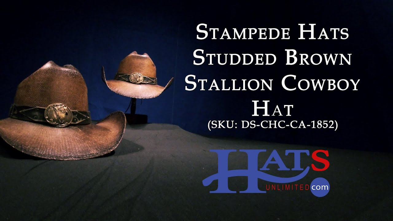 c05039d1 Stampede Hats | Studded Brown Stallion Cowboy Hat | Hats Unlimited