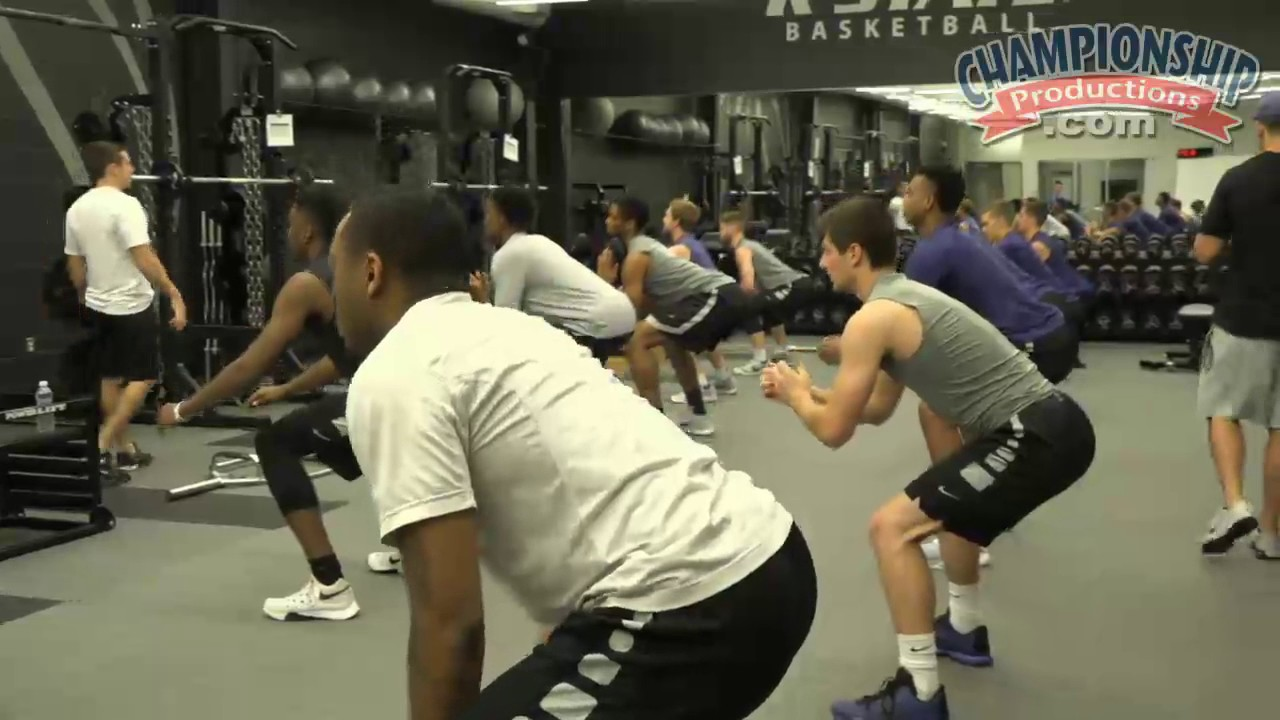 Kansas State Basketball's Strength & Conditioning Routine!