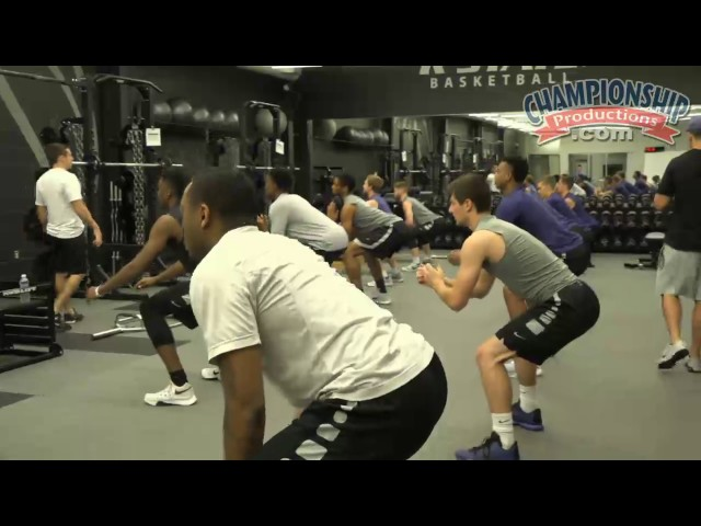 Kansas State Basketballs Strength & Conditioning Routine!