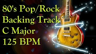 backing track in c major 80 s style pop rock 125bpm