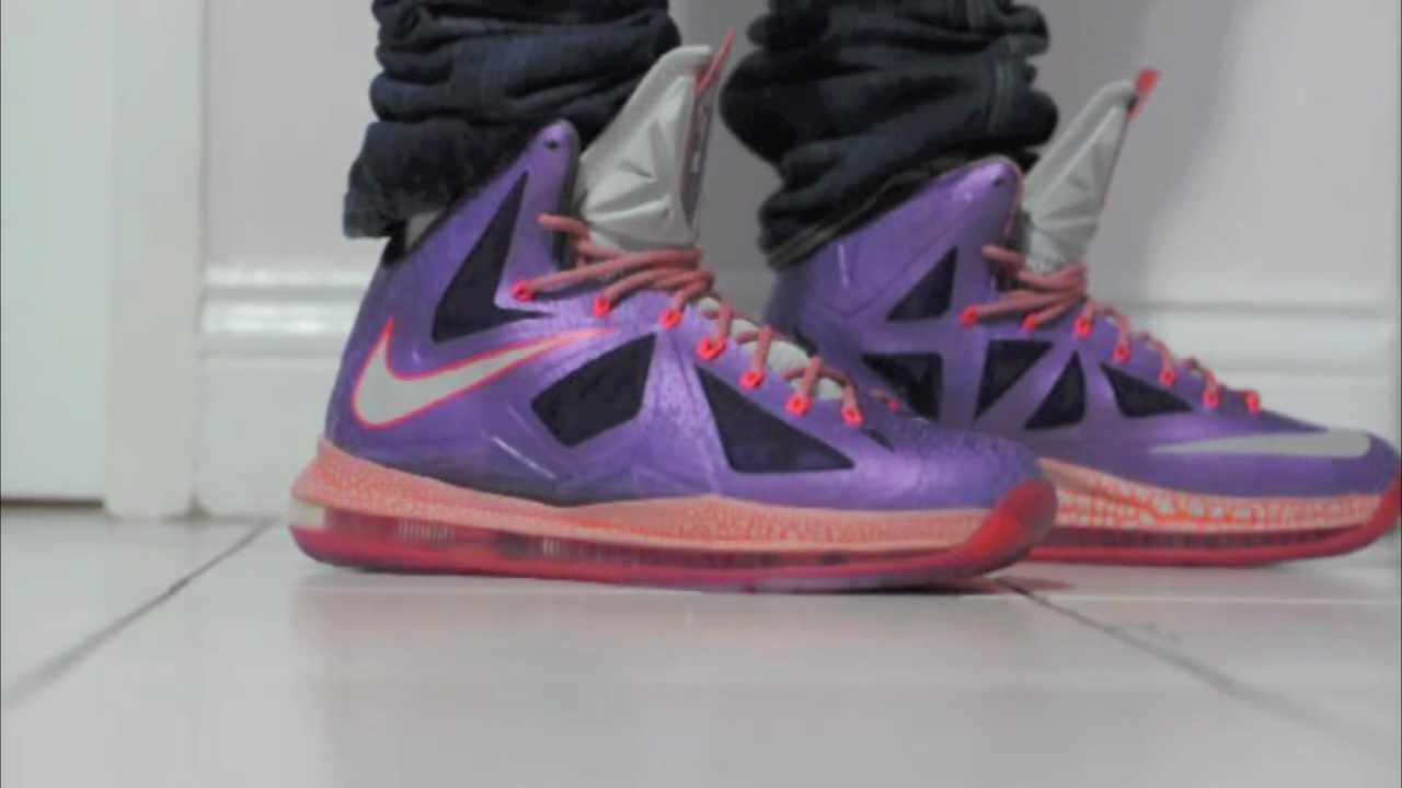 Nike Lebron X All Star Area 72 In Depth On Feet Review HD - YouTube da48329e9