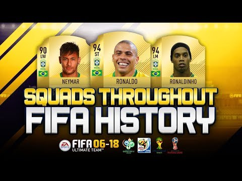 BRAZIL WORLD CUP SQUADS THROUGHOUT FIFA HISTORY! - FIFA 06-18