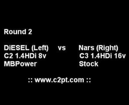 DiESEL - C2 1.4HDi 8v VS Nars - C3 1.4HDi 16v