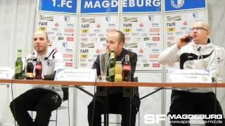 Pressekonferenz 14.03.2012 - 1. FC Magdeburg gegen VFC Plauen 0:0 (0:0) - www.sportfotos-md.de
