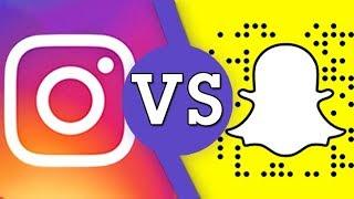 Instagram VS Snapchat - Social Media Showdown!   VS