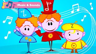 Classical Music for Babies w The Notekins | Toddler Learning Video w Musical Instruments Sounds