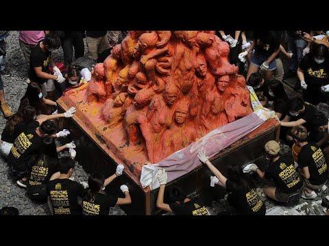 Hong Kong'daki Utanç Sütunu'nda Tiananmen Katliamı kurbanları anıldı