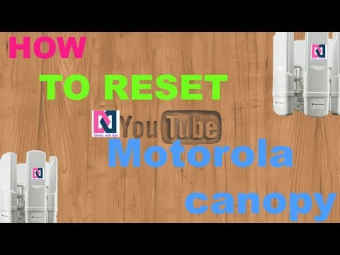How to reset Motorola canopy  sc 1 st  YouTube & How to reset Motorola canopy - YouTube