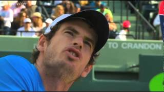 Andy Murray argues with umpire about blown call against Djokovic in Miami 2014