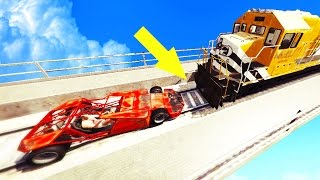 GTA 5 - CAN A RAMP CAR FLIP A TRAIN? || TREVOR'S REVENGE