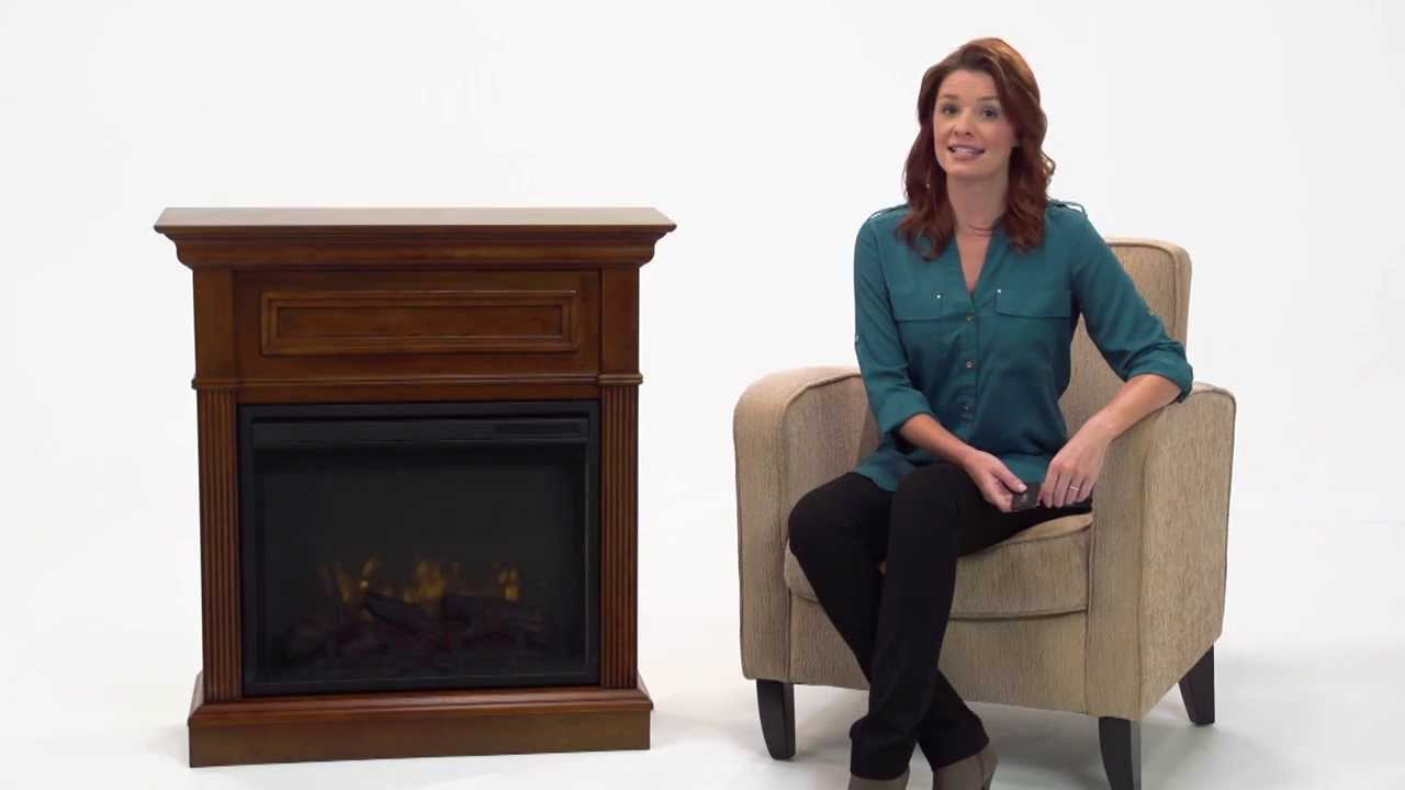pleasant hearth hawthorne electric fireplace youtube