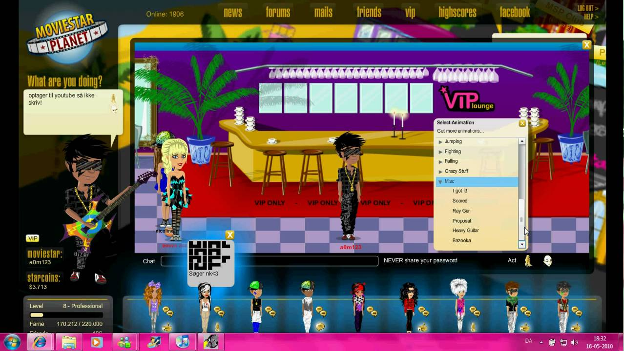 moviestarplanet acc! 2010
