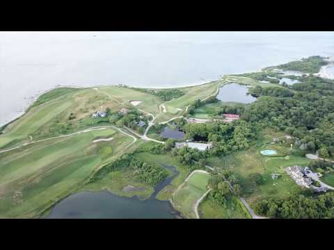 Fly Over Of Fishers Island Country Club -- Summer 2018