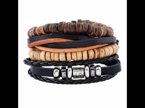 Vintage Multiple Braid Bracelets Coconut Beads DIY Leather Cord