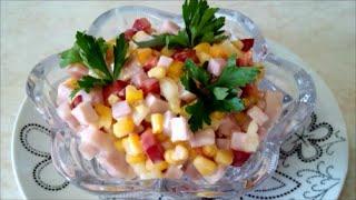 Вкусный летний салат за 5 минут Салат ЯРКИЙ